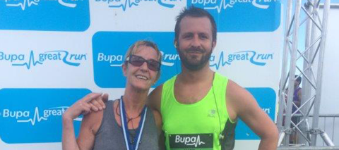 MD Runs The Great North Run for Alzheimers Society