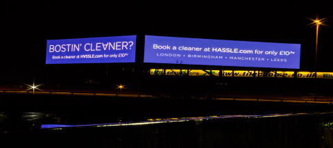 Largest Digital Billboard in Europe for Hassle.com